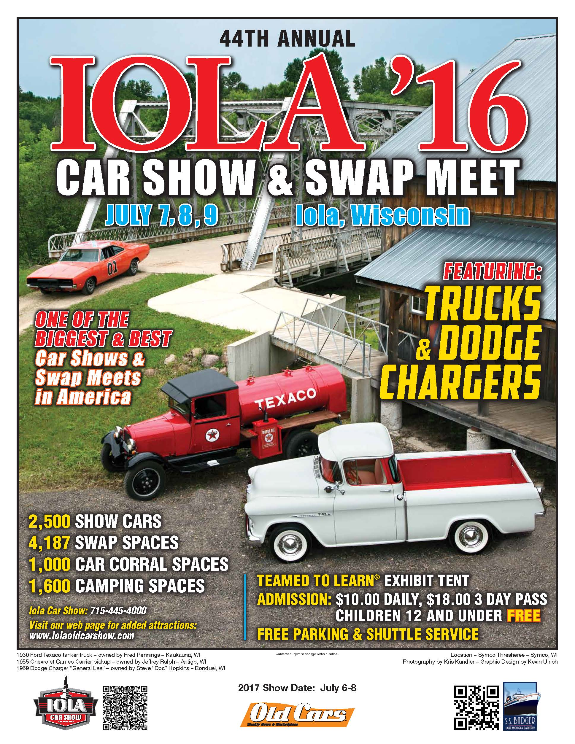 CAR SHOW POSTER Jo Coddington - Iola car show